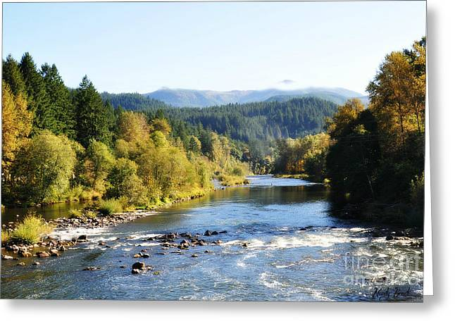 Greeting Card featuring the photograph Mckenzie River  by Mindy Bench