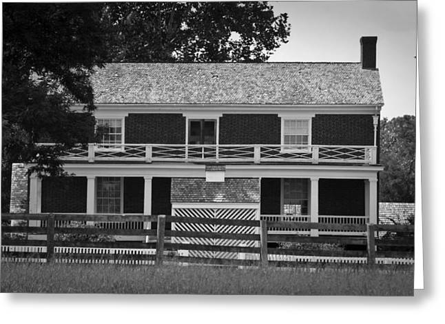 Mclean House Bw Appomattox Virgnia Greeting Card