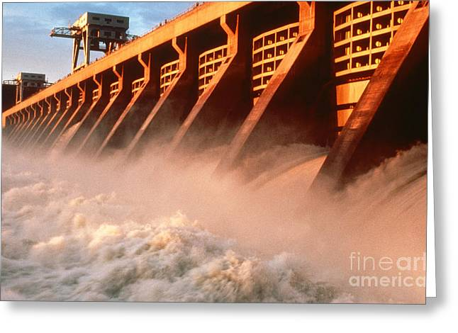 Mcnary Dam Greeting Card by DOE/Science Source