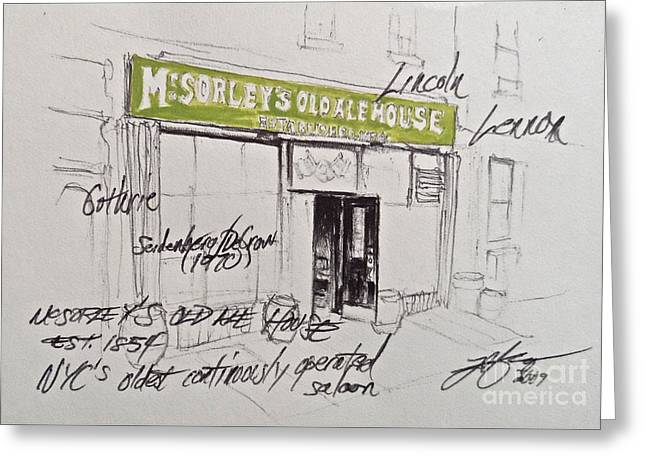 Mcsorley's Greeting Card