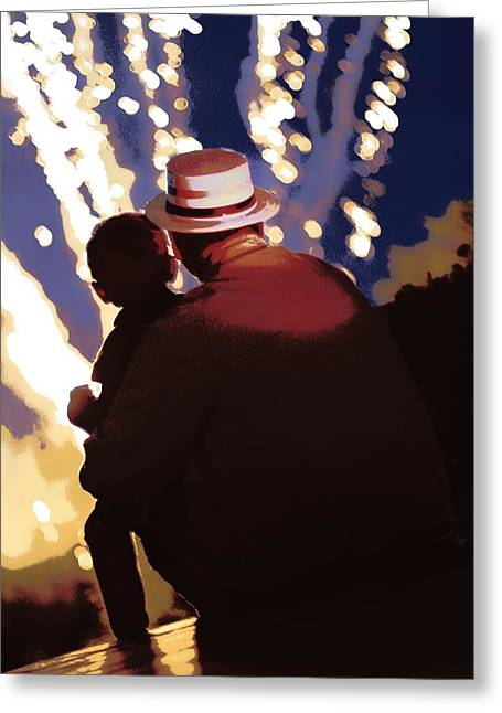 Me And Papa - 4th Of July Greeting Card