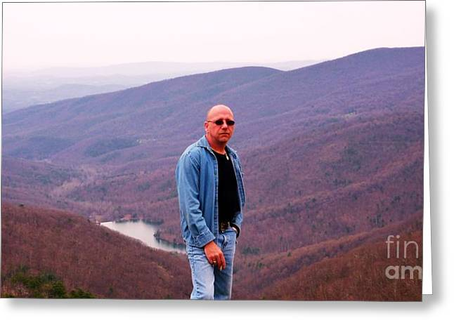 Me In The Bludridge Mountains Greeting Card by Artie Wallace