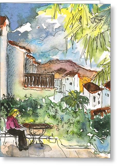 Me On My Terrasse In Albir Greeting Card