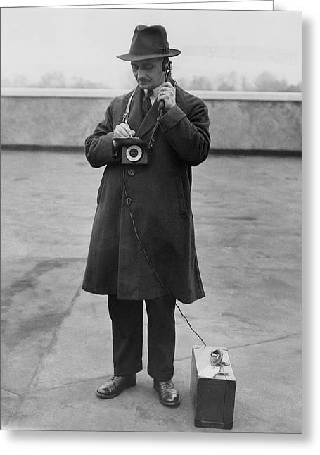 Measuring Noise, 1932 Greeting Card