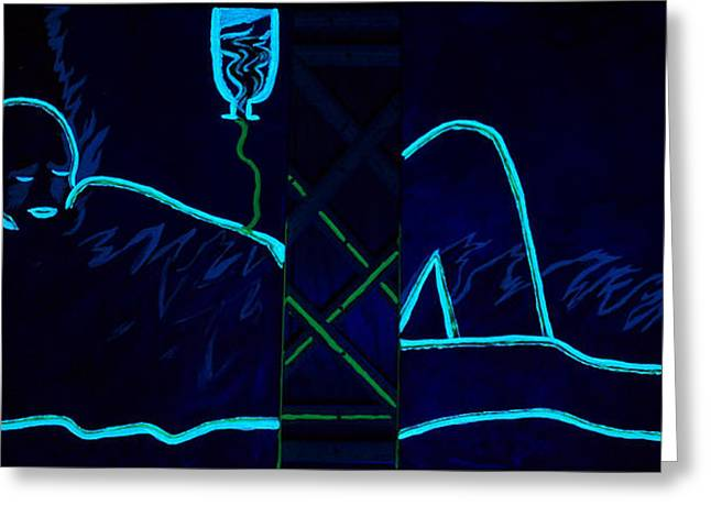 Meausre Of A Man Black Light View Greeting Card