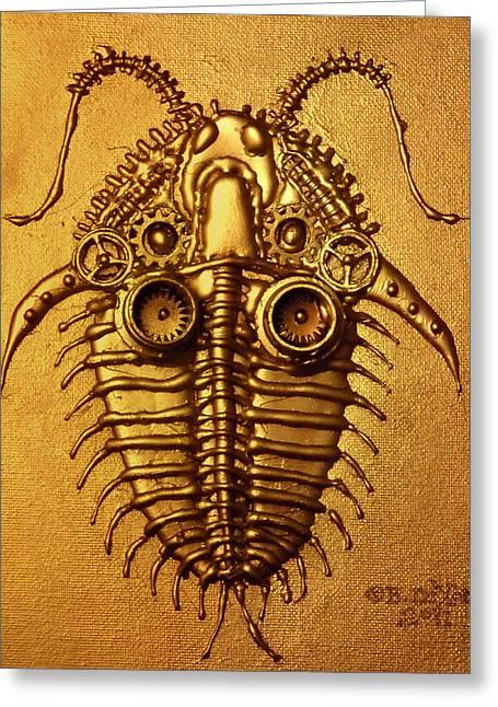 Mecha-trilobite 3 Greeting Card by Baron Dixon