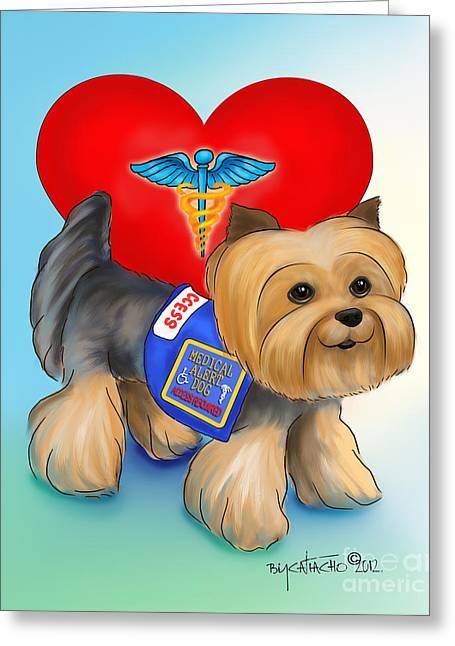 Medical Alert Yorkie Greeting Card