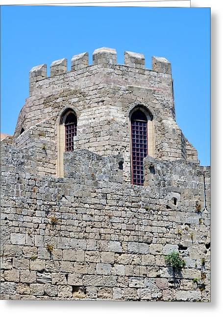 Medieval Fortress Of Rhodes. Greece. Greeting Card by Fernando Barozza