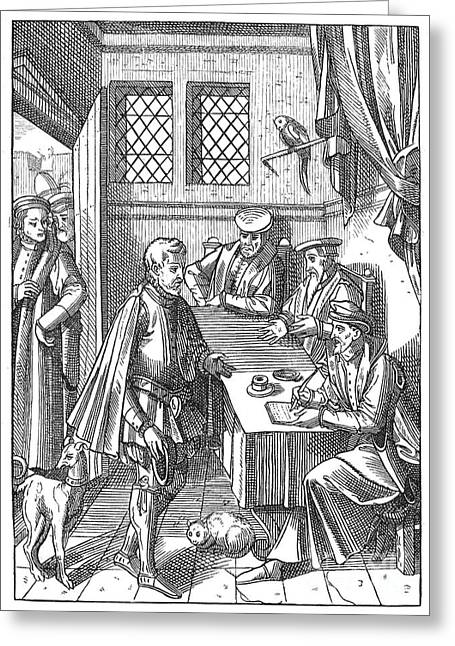 Medieval Kings Bailiff, 1557 Greeting Card by Granger