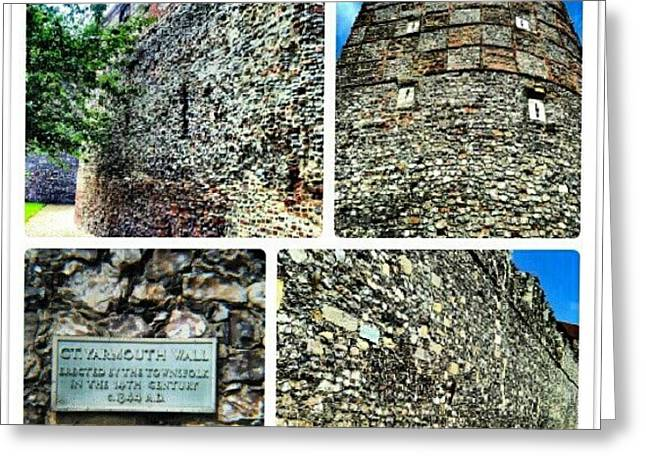 Medieval Town Wall Built 1433 #town Greeting Card
