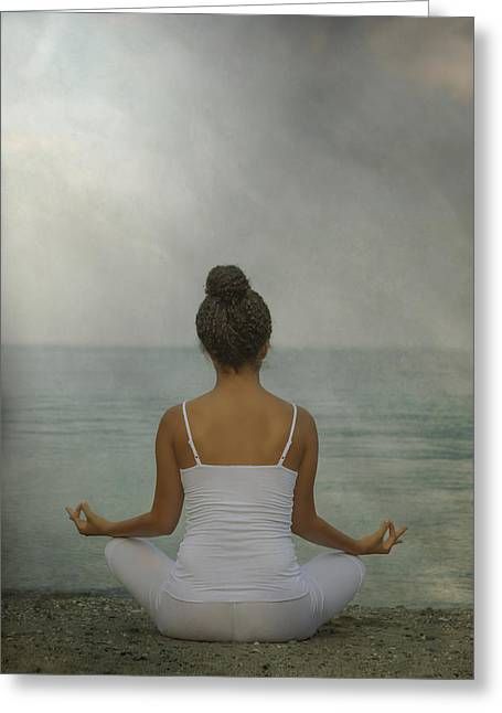 Meditation Greeting Card by Joana Kruse