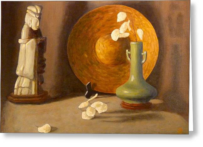 Greeting Card featuring the painting Meditation by Joe Bergholm