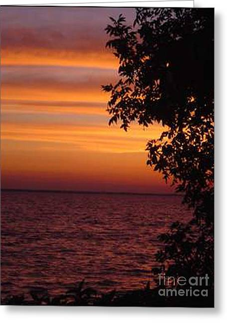 Meditation Sunset Greeting Card