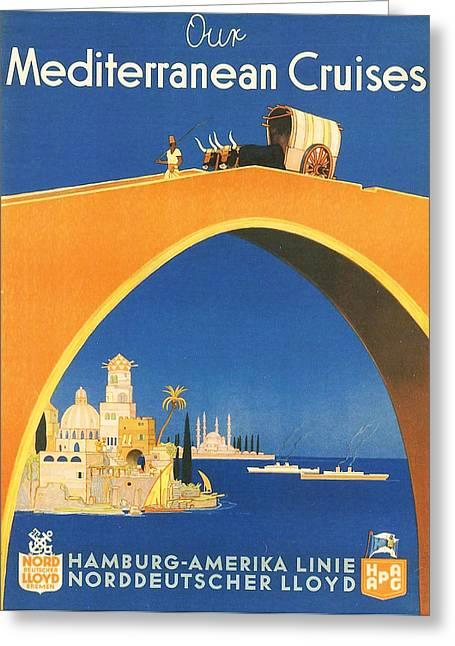 Mediterranean Cruising Greeting Card
