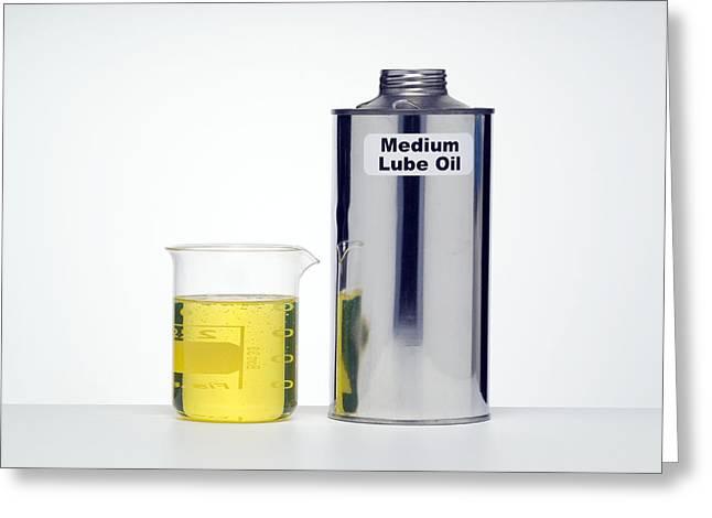 Medium Lubricating Oil Greeting Card by Paul Rapson