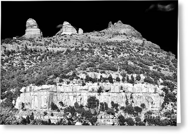 Meeting Place In Sedona Greeting Card by John Rizzuto