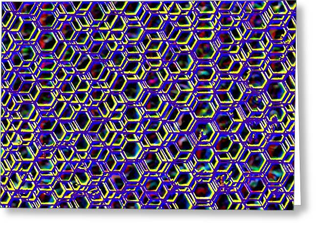 Mega Nano Structure Greeting Card by Rod Saavedra-Ferrere
