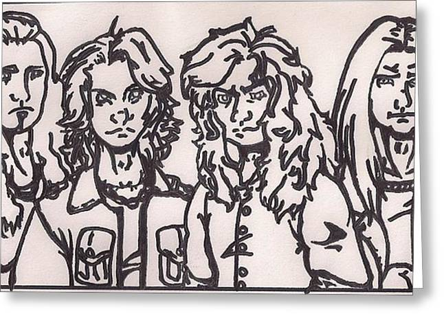 Megadeth Greeting Card by Jeremiah Colley