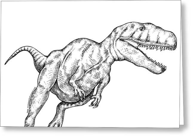 megalosaurus greeting card by karl addison