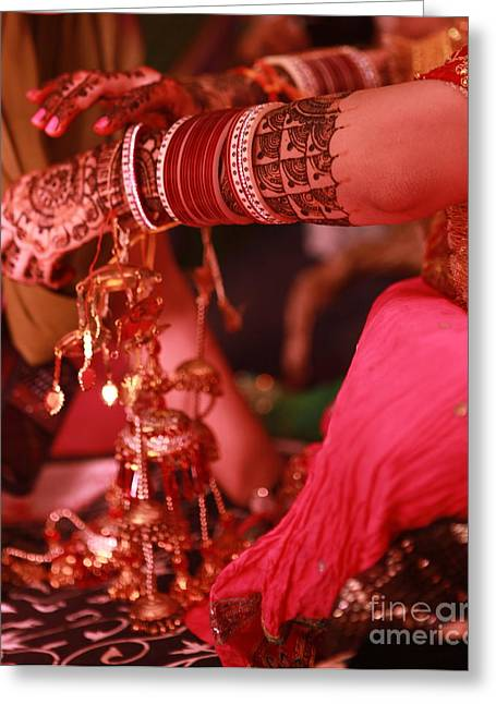 Mehndi Greeting Card by Arvi Grover