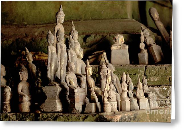 Mekong Buddha Cave  Greeting Card by Bob Christopher