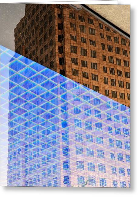 Melancholy In Blue And Brown Greeting Card by Dean Harte