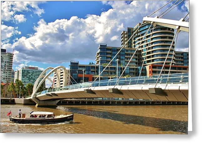 Melbourne Australia City Boat Ride Greeting Card