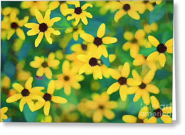 Melody Of Yellow Greeting Card by Darren Fisher
