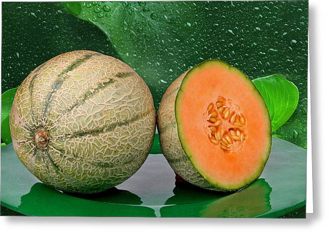 Melon Greeting Card by Manfred Lutzius