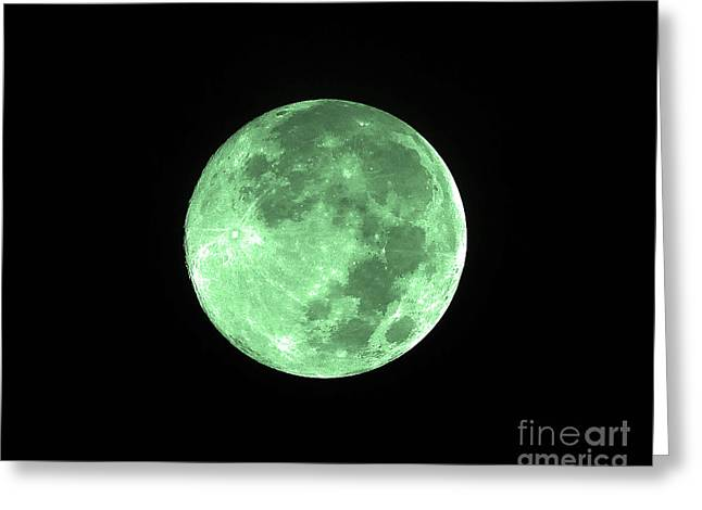 Melon Moon Greeting Card by Al Powell Photography USA