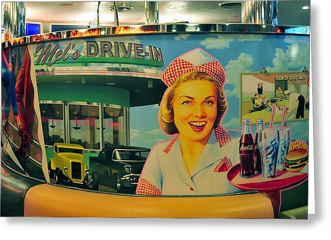 Mels Drive In Greeting Card by David Lee Thompson
