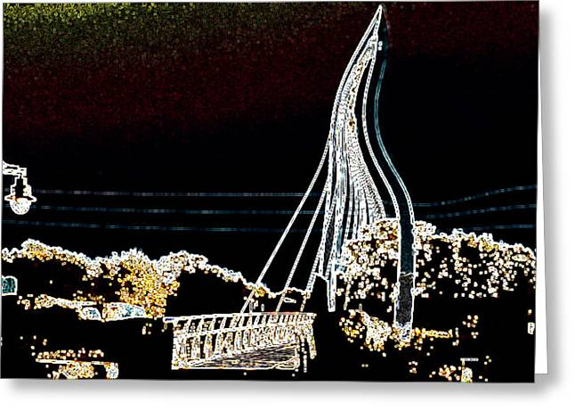 Melting Bridge Greeting Card by David Alvarez