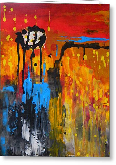 Greeting Card featuring the painting Melting Point by Everette McMahan jr