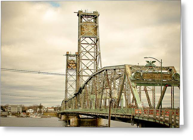 Memorial Bridge Portsmouth Nh Greeting Card by Debbra Obertanec