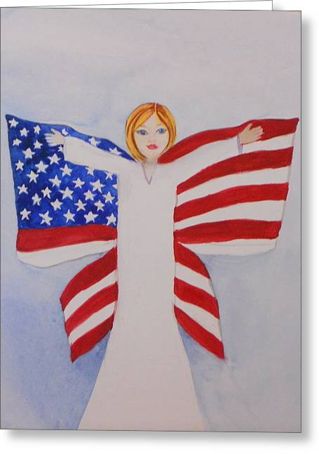 Memorial Day For Those Who Sacrificed Greeting Card by DJ Bates