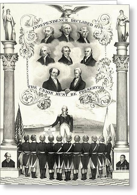 Memorial To The American Revolution Greeting Card