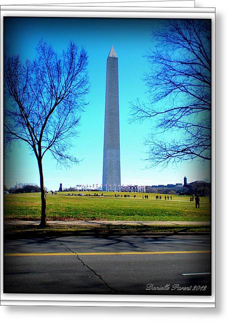Greeting Card featuring the photograph Memorials Washington  D.c. by Danielle  Parent