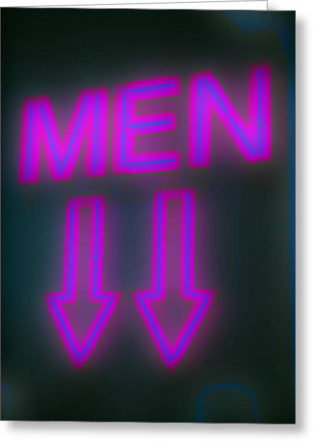 Men Greeting Card by Richard Piper