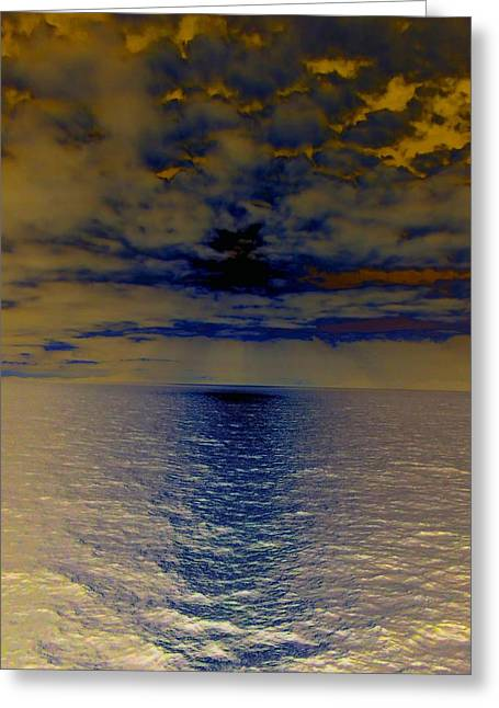 Menacing Seas Greeting Card by Randall Weidner