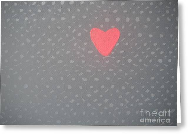 Mending The Holes In My Heart Greeting Card by Jeannie Atwater Jordan Allen