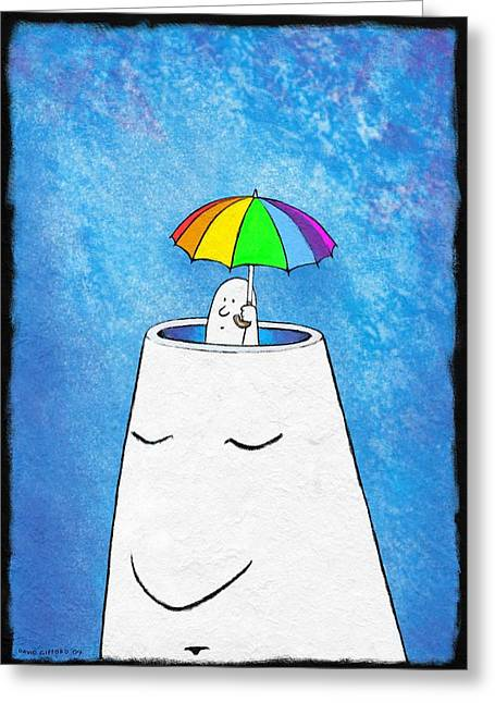 Mental Health Protection, Artwork Greeting Card