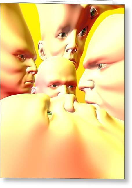 Mental Illness, Conceptual Artwork Greeting Card