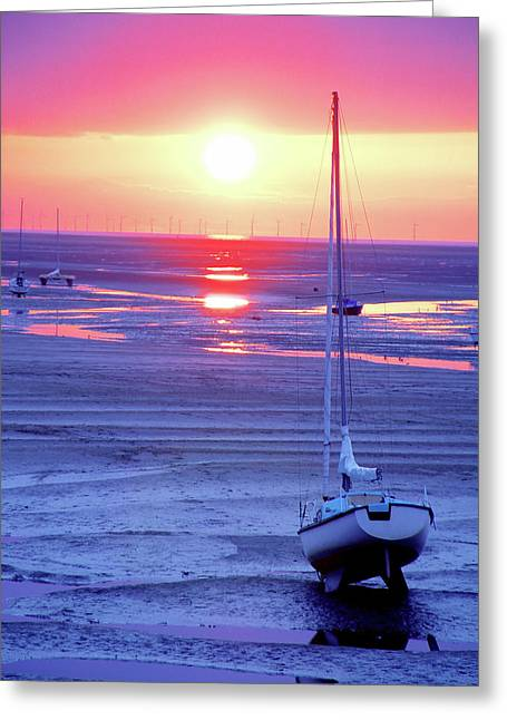 Meols Beach On The Wirral Greeting Card by Duncan Rowe