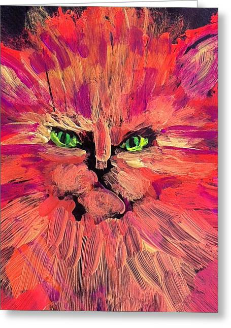 Meow Greeting Card by Gail Eisenfeld