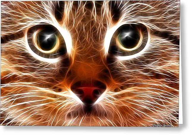Meow Greeting Card by Stephen Younts