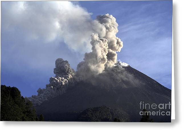 Merapi Eruption, Java Island, Indonesia Greeting Card by Martin Rietze
