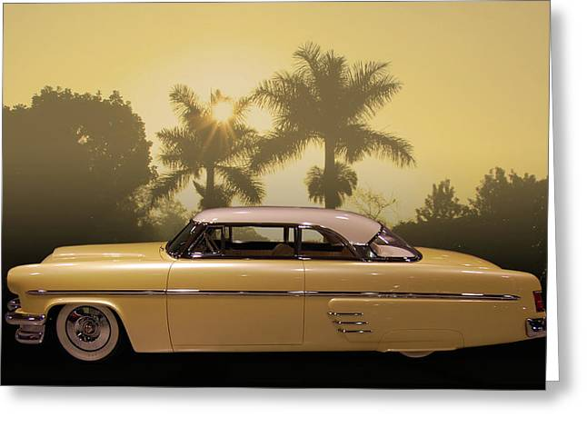 Greeting Card featuring the photograph Merc Slammer by Bill Dutting