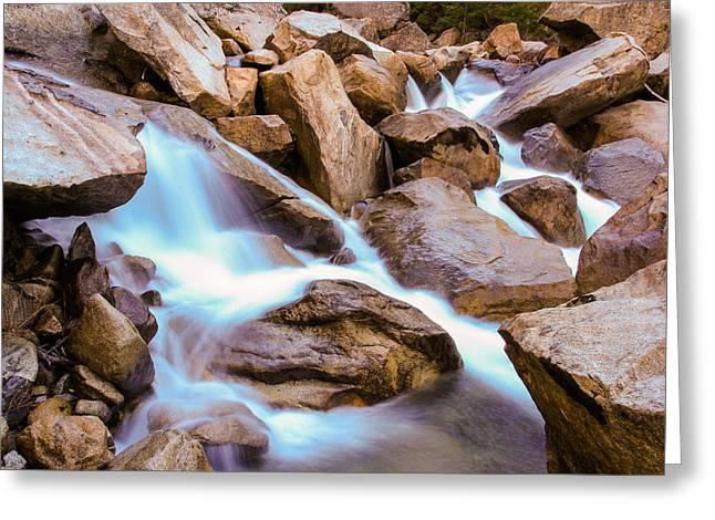 Merced Cascades Greeting Card by Adam Pender