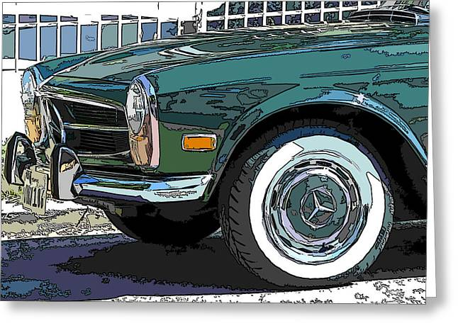Mercedes Benz 280sl Roadster 2 Greeting Card by Samuel Sheats