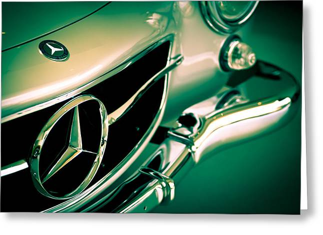 Mercedes Gullwing Greeting Card by Neil Ratnavira